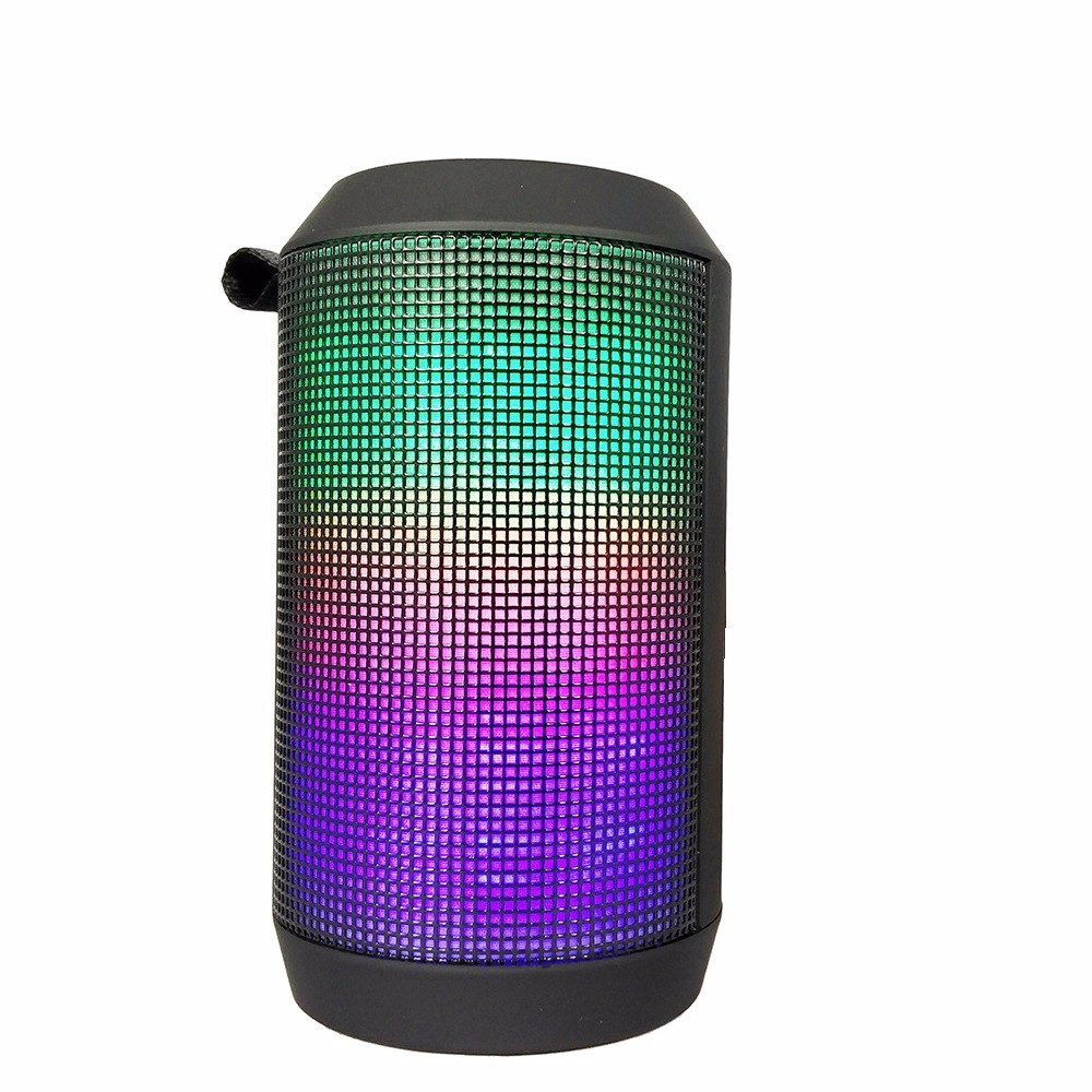Shenzhen export outdoor mini bluetooth speaker with colorful led light