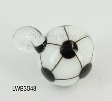 Hot sales lovely football murano glass pendant charm