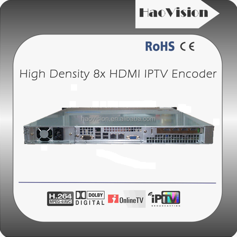 H.264 HDMI to IP IPTV Encoder h264 for Mobile, Broadcast, Internet TV/Web TV application
