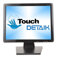 Deteik LED 15 17 19 inch TFT LCD Resistive Touch Screen Monitor with HD VGA Port