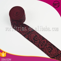 Manufacturers customized underwear trimming jacquard elastic band in cheap price