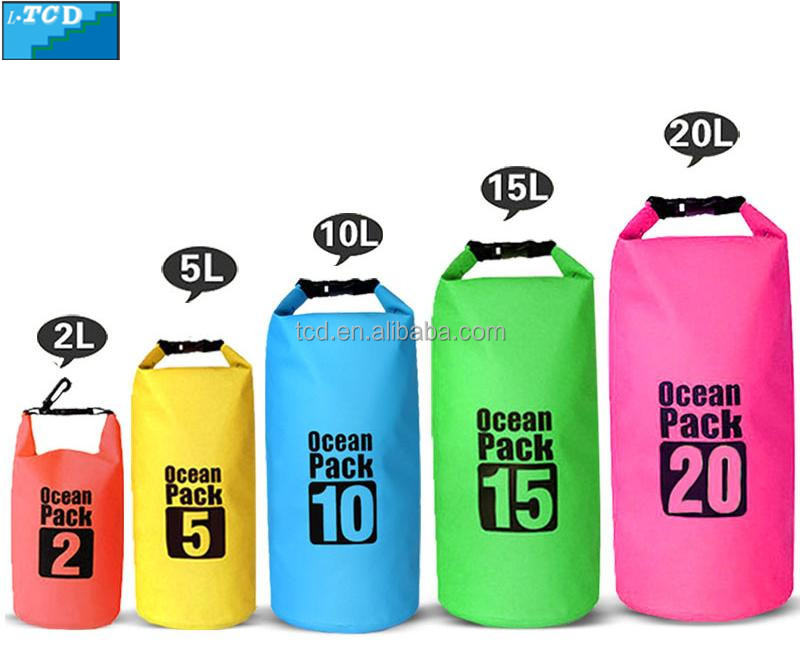 New Heavy Duty 500D PVC Tarpaulin Waterproof Dry Bag for outdoor