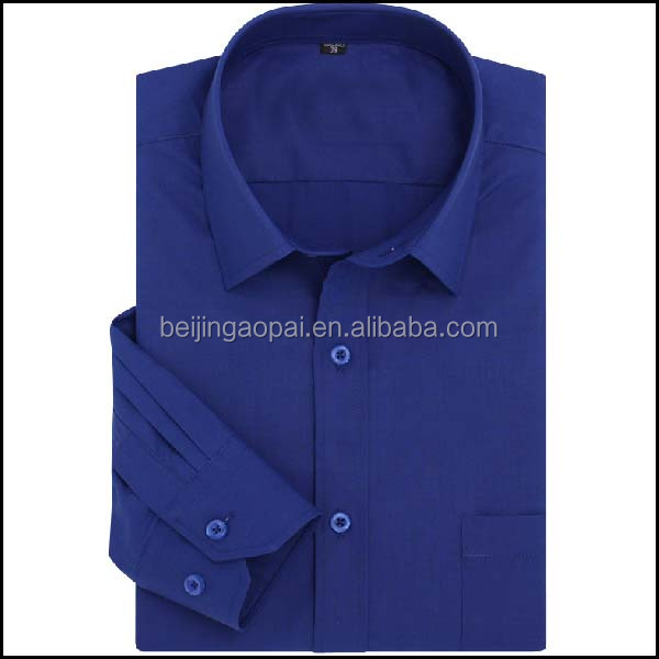 Wholesale mens yarn dyed 65/35 polyester cotton dress men's business shirts