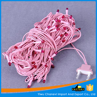 Wholesale holiday christmas Pink wire Rice light