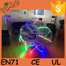 HI CE TOP quality 0.8mm PVC/TPU adults inflatable bubble soccer, inflatable belly ball bump, soccer zorb ball bumper ball led
