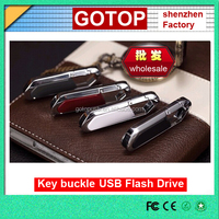 Metal usb flash drive mini key buckle usb stick memory disk metal black white plastic usb promotional