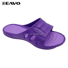 SEAVO SS17 china cheap women plain purple washable bedroom eva slippers