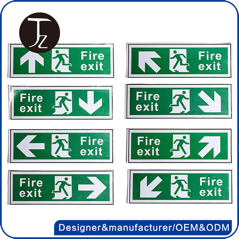 Factory customized acrylic fire exit sign