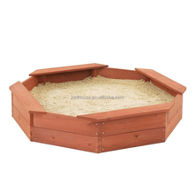 2 kids 1 large sandbox wooden for kids