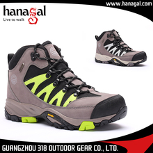China Supplier Grey&Green/Grey&White Nubuck Leather Breathable BK mesh EVA rubber sole shoes sport running