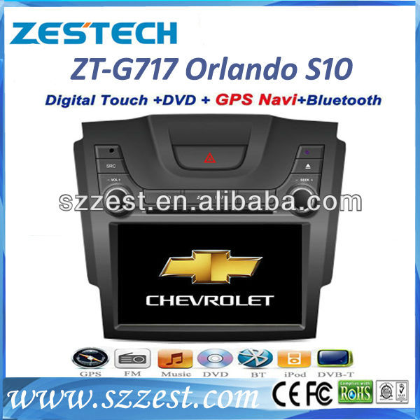 ZESTECH for CHEVROLET S10 car dvd gps navigation with 3G WIFI HD