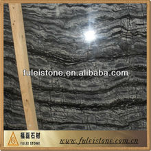 Black/grey/coffee wood grain marble tile