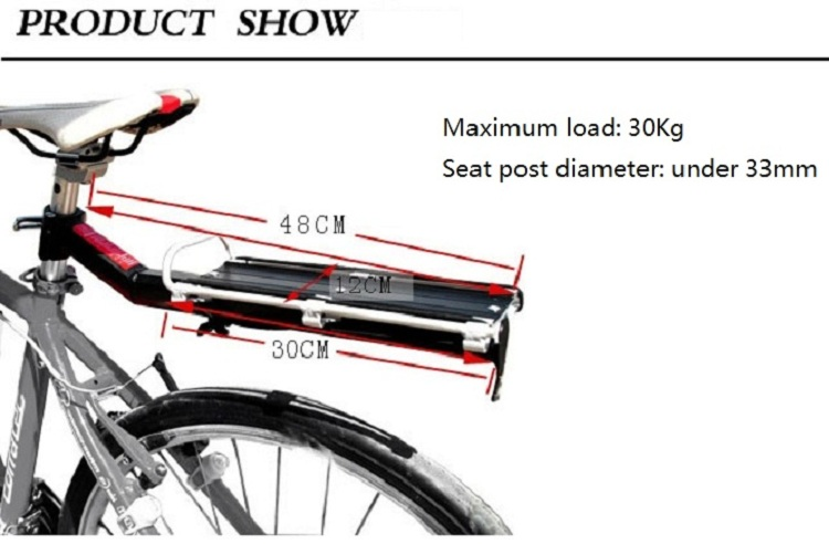 Popular bike luggage carrier, Alloy bike rear carrier, cycling rear rack
