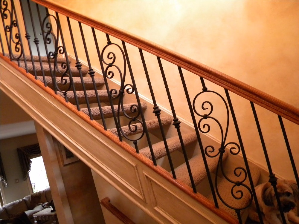 High Security China direct supplier wrought model italian balcony iron railings designs/roof deck railing/balcony gril