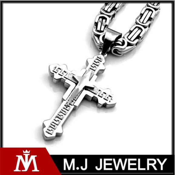wholesales fashion cross pendant stainless steel chain neckalce