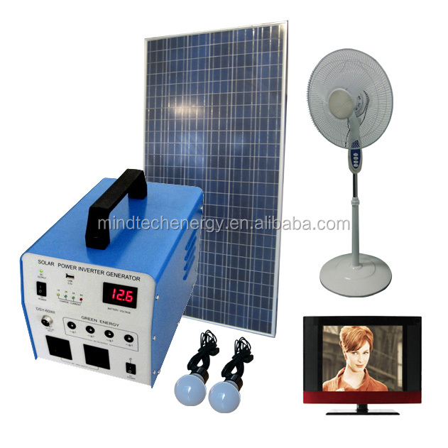 300w complete off grid solar home system solar panel system for home use