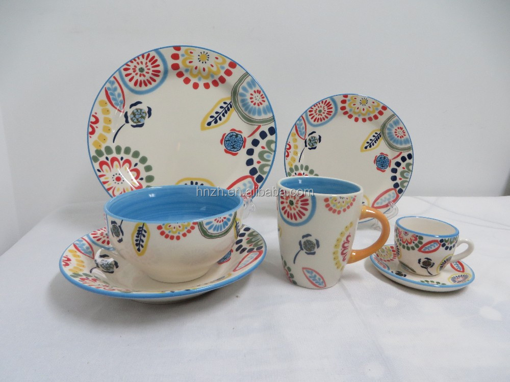 Ceramic breakfast dinnerware asian dinner set items name