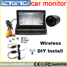 "Wireless Night Vision Car Reverse HD Camera with 4.3"" TFT Rear View monitor"