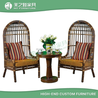 aluminum outdoor patio SGS PE rattan cane wicker furniture