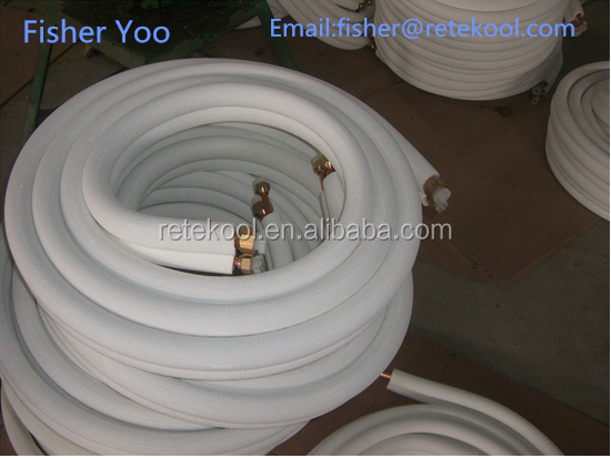 Split Air conditioner copper & aluminum tube pipe with rubber Insulation