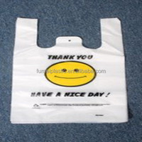 PE Custom Made Printed Die Cut Shopping Plastic Bag Carrier