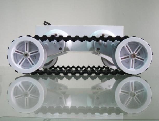 Rover 5 Tank Rubber Track Mobile Car Chassis Robotic Platform Educational Robot (4 Motors with 4 Encoders)