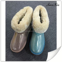 Top Quality decoration long snow boots liners for girls and women