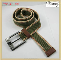 Fashion fabric colorful cotton canvas belts by custom