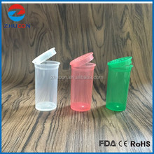 Pop Top Vials Hinged Medical Plastic Snap Cap Pill Bottles /small opaque plastic container/jar