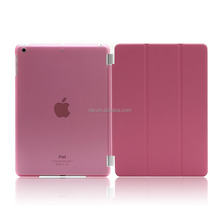 Full Protector Leather Hard Smart Cover and Rubberized Back Case for iPad Pro 9.7 Case, Detachable, Pink