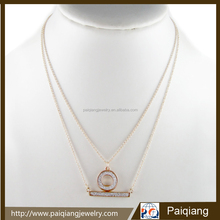 Newest Fashion Pendant Layered Necklace spice things up with layered chains necklace for women