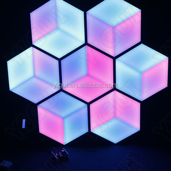 white/black star light interactive make dmx led dance floors