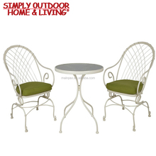 Outdoor Leisure 3 Piece Bistro Set Coffee Table Decoration Sets with Cast Iron Table Legs