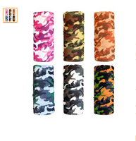 Running Hiking Biking Riding Cool Pack of 6 Pcs Seamless Style Camo Bandanna Headwear Scarf Wrap Neck Gaiters