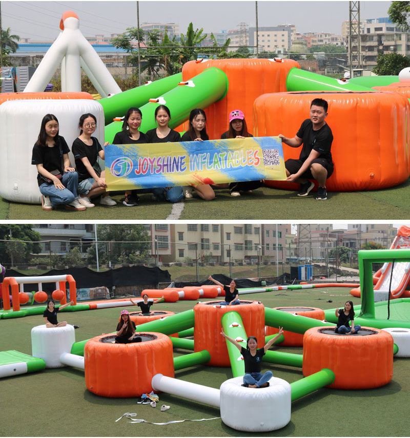 Inflatable Fun Aquapark Equipment Inflatable Sea Floating  Water Obstacle Parks Giant Adult Size Amusement Park For Sale