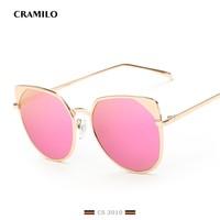 CS3010 Newest Cat Eye Sun glasses for Women Brand Designer UV400 Semi Rimless Sunglasses