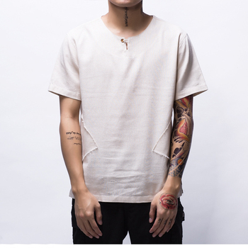 Summer New Fashion Street Wear Half Sleeve Loose Wholesale Hip Hop Men's Longline T Shirt