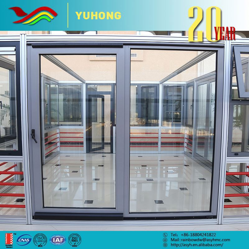 2016 Hot sale used aluminium commercial 96 x 80 fire rated sliding glass door