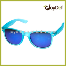 Blue Revo Lens Soft Feeling Rubber Painting Style Customized Sunglasses