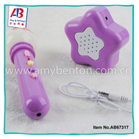 Most popular funny plastic electric music microphone toy for kids