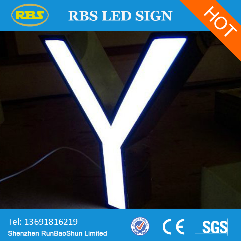 outdoor surrounding edge lit stainless channel letter,changeable led letter sign