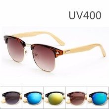 Drop Shipping China Glasses Sun Women Men PC Frame Wood Sunglasses Wholesale <strong>Bamboo</strong> sg20042