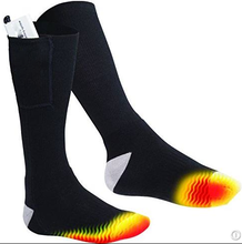 Winter ski heated socks with battery