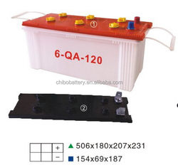 Best quality professional dry volta car battery 6-QA-120 12v120AH