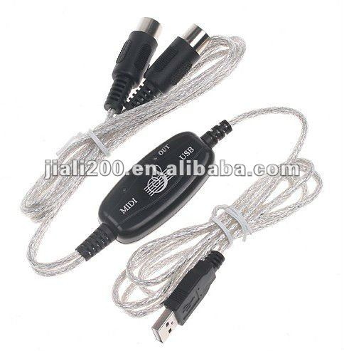 HOT MIDI USB Cable Converter PC to Music Keyboard Adapter