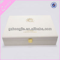 White travel vanity case