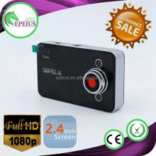 TOP SALES K6000 HD 1080P DASH CAM front rear camera car dvr 2.4 INCH LCD CAR BLACK BOX