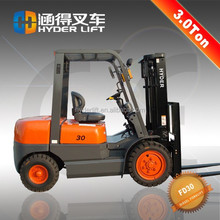 energy saving 3t diesel forklift with front steering wheel