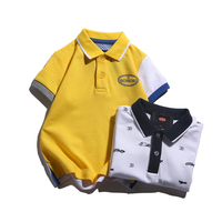 Toddler kids boys polo shirts 100% cotton short sleeve summer fashion design