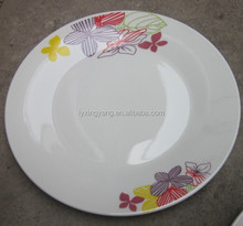 wholesale cheap bulk dinner plates with custom logo and very popular plate